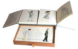 Deux livres avec tiroir, format 14x21 cm