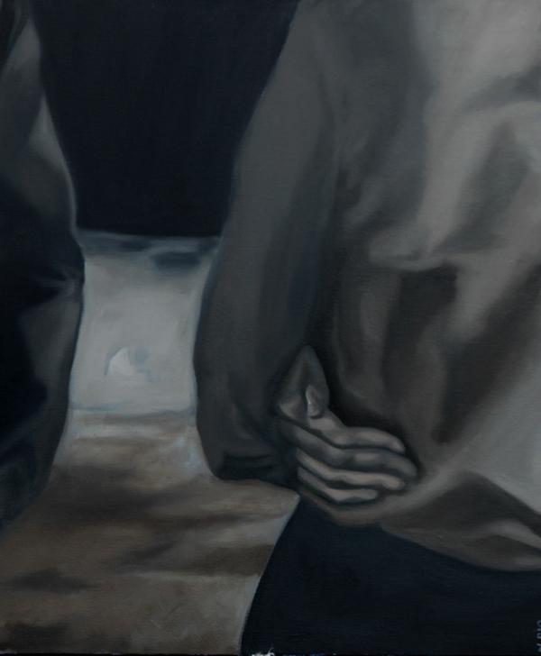 Sans titre, 2019              Huile sur toile : 55x45 cm