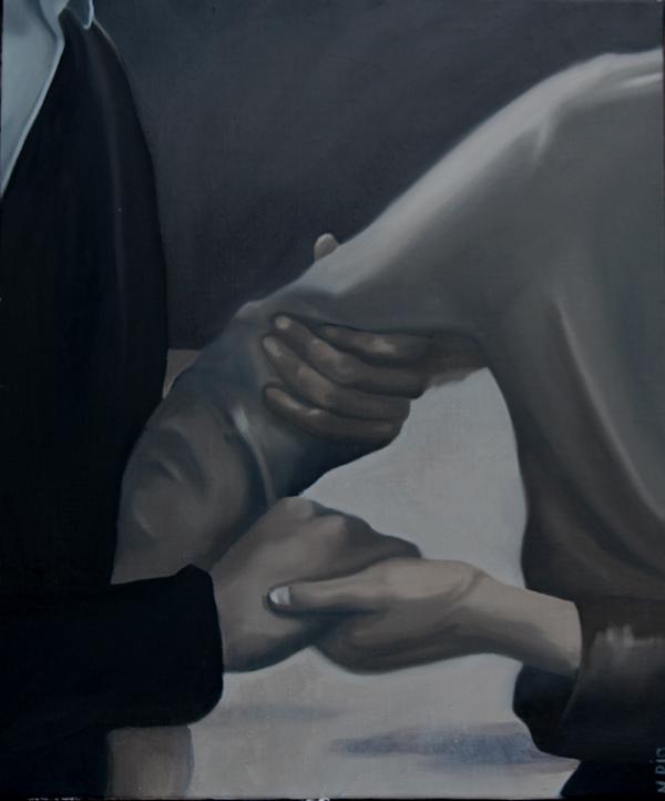 Sans titre, 2019    Huile sur toile : 45,5x37,5 cm
